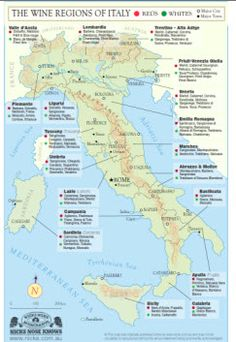 Italy Wine Regions Map is a very helpful PDF designed by Nicks Wine Merchants in Australia.  This Italy Map shows type of wine produced in each region including the Piedmont region where Turin is located.  Click here for the article with Italy wine facts and the map pdf. http://www.amoretravelguides.com/blog/torino-italy-wine-wine-and-more-wine.php