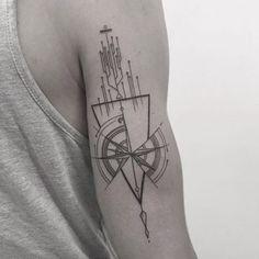 """Résultat de recherche d'images pour """"tatouage boussole geometrique"""""""