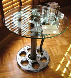 Movie Reel Table Home Theater 35mm Floor Model