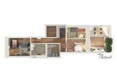 Floorplan of the apartment por lagom studio escandinavo Multi Story Building, Floor Plans, Studio, Shopping, Design Ideas, November Born, Floor Plan Drawing