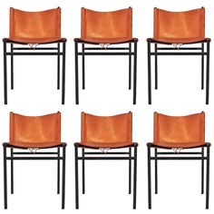 Paolo Tilche Set of Six Chairs for Arform | From a unique collection of antique and modern chairs at http://www.1stdibs.com/furniture/seating/chairs/
