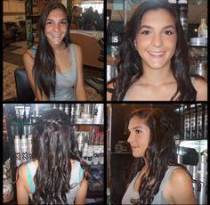 $80 Prom Hair & Makeup Package @ Entourage Hair Salon West Covina www.entouragehairsalon.com