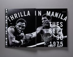 Thrilla in Manila Follow our boards for more #Iconika #likes on pinterest.com/iconika