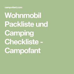 Wohnmobil Packliste und Camping Checkliste - Campofant
