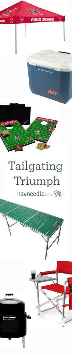 Be the best-known tailgating host with top draft picks like portable grills, canopies, indoor/outdoor portable bars, tailgate games, coolers, and much more.
