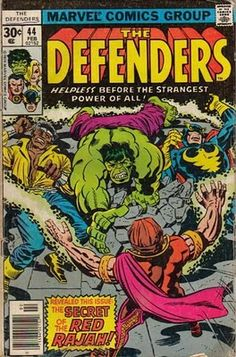 Defenders #44. The Red Rajah.  Cover by Jack Kirby