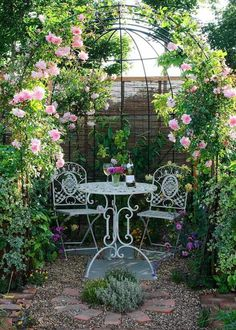 Georges Marvellous Medicine, Medicine Illustration, Outdoor Decor, Outdoor Spaces, Outdoor Furniture Sets, Patio, Flowers, Plants, Dream Garden