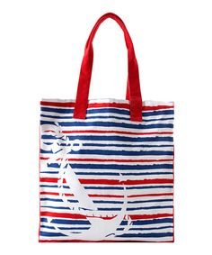 Take a look at this Red & Blue Napoli Tote by Shiraleah on #zulily today! $15.99, regular 35.00 Sale ends in 1 days, 6 hours. In otherwords, sale ends on Friday, June 7th in the evening.