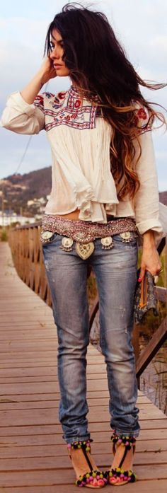 Adorable Boho Casual Outfits to Look Cool  (24)