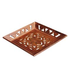 Bulk Wholesale Handmade Mango-Wood Square Serving Tray with Intricate Carving & Brass Inlay Work – Kitchen / Table Accessories – Home Essentials Serving Trays With Handles, Serving Tray Wood, Wood Tray, Handmade Decorations, Table Decorations, Coffee Table Tray, Table Accessories, Wood Square, Wood Design