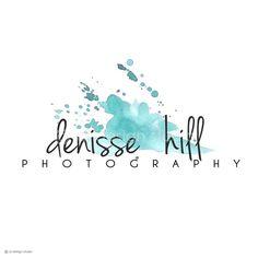 Premade logo design  photography logo watercolor by blursbyaiShop, $9.90