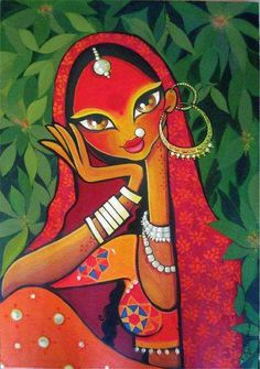 40 Beautiful And Interesting Indian Paintings 40 Beautiful And Interesting Indian Paintings - Bored Art Rajasthani Painting, Rajasthani Art, Madhubani Art, Madhubani Painting, Arte Tribal, Tribal Art, Art And Illustration, Art Illustrations, Fabric Painting