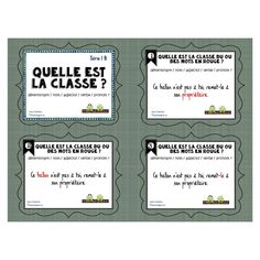 Cartes à tâches: Quelle est la classe Série 1B School Organisation, Grade 3, Task Cards, Kids Learning, Spelling, Literacy, Classroom, Journal, Teaching