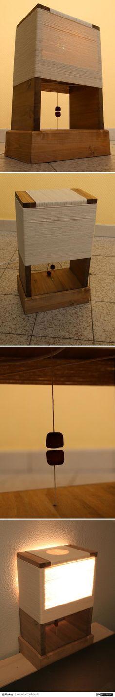 Lampe aimant par Aiakos - Bon, sur la structure de la lampe en elle-même, peut être pas grand chose d'original pour des grands amateurs d'e-passionés par le travail du bois. Quelques traits de scie, un assemblage avec tourillon...