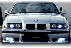 BMW E36 M3 silver slammed