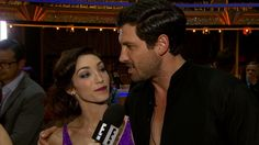 "Meryl Davis on Her DWTS Win and Leaving Maksim Chmerkovskiy's Proposal Hanging: I'm Stubborn!     & a / Video Thumbnail: Meryl and Maks Celebrate ""DWTS"" Win!"