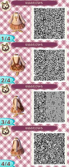 Animal Crossing New Leaf dress QR code
