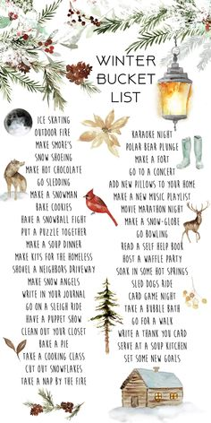 40 Activities to Cross Your Winter Bucket List Kelsey Bang, . - 40 Activities to Cross Your Winter Bucket List Kelsey Bang, - Winter Fun, Winter Christmas, Christmas Holidays, Christmas Crafts, Christmas Decorations, Hygge Christmas, Christmas In November, December, Winter Time