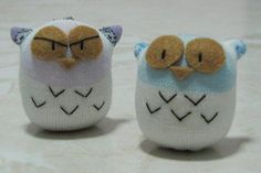 Owl Sock dolls! I have a Baby Shower to go to next week I think I'll make a few of these for the shower :)