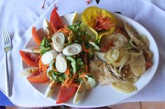 Grilled fish salad Hotel Costa Coral Restaurant, Tambor, Costa Rica #fun #vacation #family #food #foodie