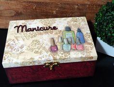 Caixa Manicure Mod.1 Rubi Paris | Dona Abelha | Elo7