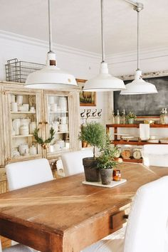 Beautiful details in this rustic dining room & kitchen
