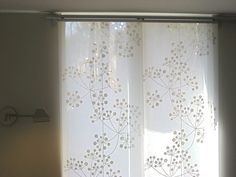 Dining room slider and living room bay window treatments.IKEA, of course! As it pertains to Closet Door Alternative, Bay Window Treatments, Decor, Window Treatments, Curtain Decor, Curtains, Headboard Curtains, Kitchen Patio Doors, Ikea Panel Curtains