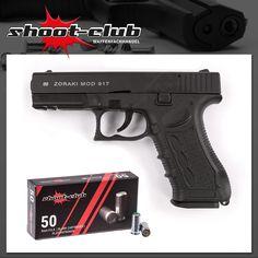 """Zoraki 917 Schreckschusspistole 9mm P.A.K. - brüniert / Set inkl. 50 Schuss Platzpatronen""""shoot-club"""" Edition    - weitere Informationen und Produkte findet Ihr auf www.shoot-club.de -    #shootclub #pistol #guns #Blankgun #ammunition"""