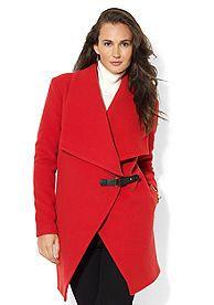 Lauren Ralph Lauren Drape Front Buckle Jacket-Belk