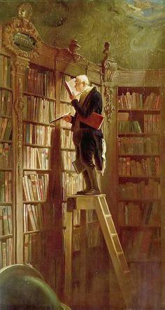 El ratón de biblioteca (1850)  Carl Spitzweg (Alemania 1808 - 1850)