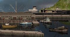 Finally! That took rather long to share, sorry. A little starter set to build a harbour in your hood – big city or small fishing village, your choice! And here's an awesome ambient mixer to get in the mood! The polycounts of some models below may seem high for hood deco standards, but…