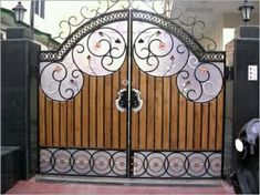 Gate designs, Gate designs for private house and garage, front gate design Latest Gate Design, Home Gate Design, Gate Wall Design, Grill Gate Design, Steel Gate Design, Front Gate Design, House Design, Metal Gates, Wooden Gates