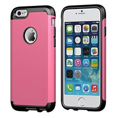 iPhone 6 Case, LUVVITT® ULTRA ARMOR iPhone 6 Case / Best iPhone 6 Case for 4.7 inch Screen Air | Double Layer Shock Absorbing Pink iPhone 6 Case Cover (Does NOT fit iPhone 5 5S 5C 4 4s or iPhone 6 Pl