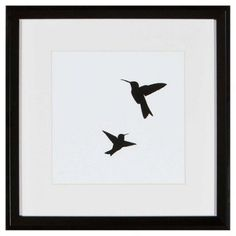 Hummingbirds Silhouette
