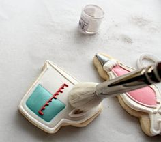 """I use lustre dust all of the time to accent my cookie creations.  From eyeshadow, blushing cheeks it's a fun way to add a little """"bling"""" to your cookie creations."""