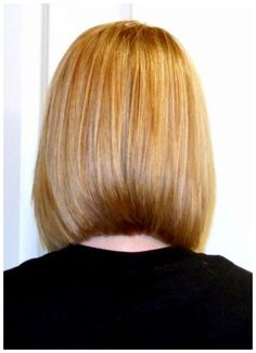 Back View of Medium Length Bob Hairstyle