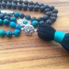A new mala is coming soon! These gorgeous black lava beads symbolize strength and resilience. They provide an extra dose of courage throughout your day :) This gorgeous mala will be in the shop tomorrow :) by boho.berry
