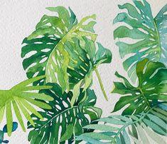네 눈앞에 내 그림🌷 (@leegreeem) • Instagram photos and videos Watercolor Plants, Plant Leaves, Flowers, Paintings, Paint, Painting Art, Painting, Royal Icing Flowers, Painted Canvas