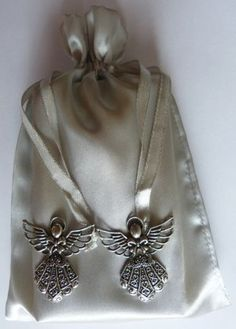 Silver-Angel-Charm-Tarot-Drawstring-Pouch-Bag