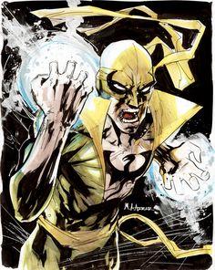 Iron Fist by Mahmud Asrar Comic Book Characters, Marvel Characters, Comic Books Art, Comic Art, Book Art, Marvel Comics, Marvel Art, Marvel Heroes, Luke Cage Iron Fist