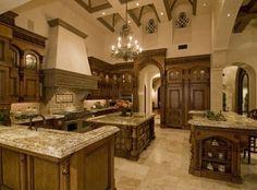 Mediterranean homes – Mediterranean Home Decor Elegant Kitchens, Luxury Kitchens, Beautiful Kitchens, Cool Kitchens, Tuscan Kitchens, Contemporary Kitchens, Contemporary Bedroom, Mansion Kitchen, Craftsman Kitchen