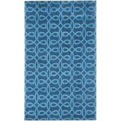 Cococozy Symphonic Hand-Knotted Area Rug, Blue