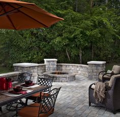 Outdoor space with fire pit!