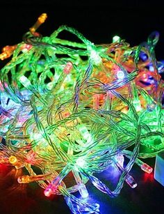 2 battery operated cool white led frozen ice cube christmas lights clear wire continue to the product at the image link this link participates - How To Program Christmas Lights