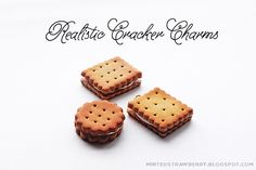 Realistic Cracker Charms Polymer Clay Tutorial