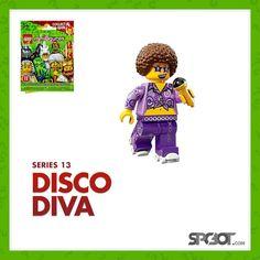Lego Disco Diva Minifigure Series 13 - NEW SEALED IN BAG - SHIPS FAST #LEGO #minifigureSeries13 #minifigure