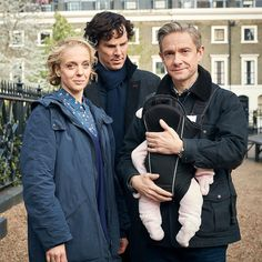 "Sherlock's looking at the kid like, ""What are you staring at?"""