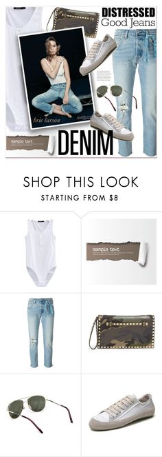 """Good Distressed Jeans"" by watereverysunday ❤ liked on Polyvore featuring Levi's, Valentino and Comfort Zone"