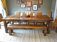 DIY Farmhouse Table @ Do it Yourself Home Ideas