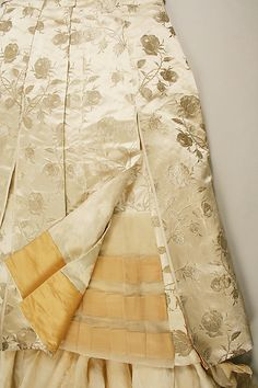 Ball gown, detail, 1885, House of Worth, Charles Frederick Worth, French, silk